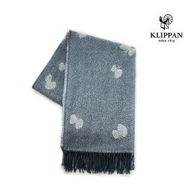KLIPPAN クリッパン ストール CHOUCHO ブルーグレー W65×L200cm mina perhonen ミナペルホネン ウール 天然素材 北欧 おしゃれ 送料無料 チョウチョ