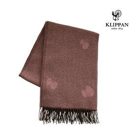 KLIPPAN クリッパン ストール CHOUCHO ブラウン/ピンク W65×L200cm mina perhonen ウール ミナペルホネン 天然素材 北欧 おしゃれ 送料無料 チョウチョ