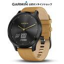 GARMIN ガーミン vivomove HR OnyxBlack TanSuede ヴィヴォムーヴ ウェアラブル ウォッチ 腕時計 活動量計 ウォーキン…