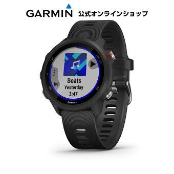 ForeAthlete 245 Music Black Red ランニングウォッチ マルチスポーツ GPS トレーニング Garmin ガーミン 【あす楽】 【1年延長保証付き】
