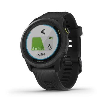 ForeAthlete 745 Black Suica対応 スマートウォッチ ランニングウォッチ GPSウォッチ トレーニング 腕時計 デジタル Garmin ガーミン 【1年延長保証付き】