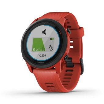 ForeAthlete 745 Magma Red Suica対応 スマートウォッチ ランニングウォッチ GPSウォッチ トレーニング 腕時計 デジタル Garmin ガーミン 【1年延長保証付き】