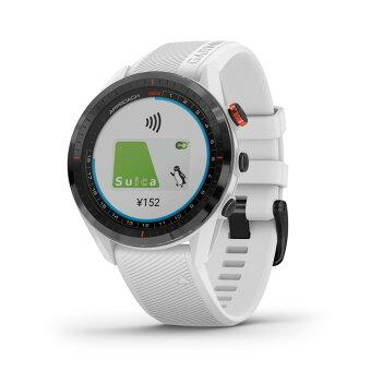 ApproachS62 White Suica 対応 アプローチ GPS ゴルフ コースマップ スイング ショット追跡 高低差情報 Garmin ガーミン
