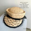 【misaharada】【ANAIS】ミサハラダ帽子 ラフィアキャスケット アシンメトリー ヴェール付きのキャップ リボンハット …