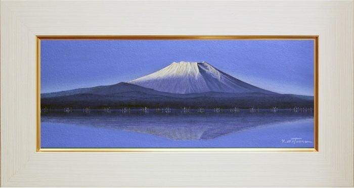 松浦敬文『逆さ富士』油絵・油彩画 WF3