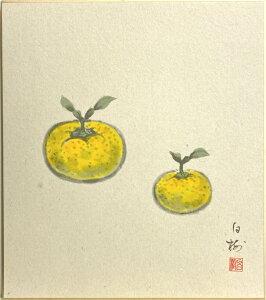 川村白樹『柚子』 4  色紙絵