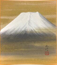 川島正行『白富士』色紙絵