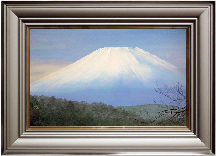清水 規『朝富士』日本画  M10(10号)【中古】