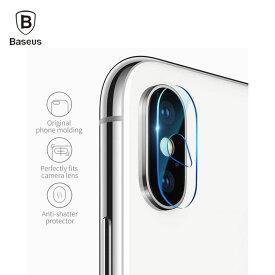 BASEUS(べセス) Glass Film iPhone X カメラ レンズ 2枚セット 強化ガラス フィルム 0.15mm 超薄型 自動吸着 レンズスクリーンプロテクター 取付前のクリーニングシートとピンセット付き