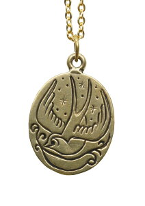 LHN Jewelry(エルエイチエヌ ジュエリー) アメリカ製 ハンドメイド スワロー チャーム ネックレス メンズ ユニセックス 真鍮製 Swallow Charm Necklace Brass 【あす楽】