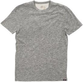 FAHERTY BRAND (ファリティ ブランド) スラブ生地 クルーネック Tシャツ 霜降りグレー メンズ 【あす楽】