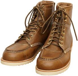 (ダブルアールエル) RRL アメリカ製 BRUNEL BOOTS ワーク ブーツ ブラウン フルグレインレザー Leather Work Boot 【あす楽】