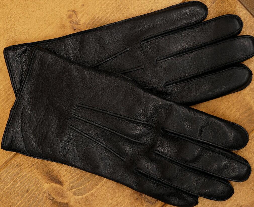 (ダブルアールエル) RRL イタリアン レザー Officer's グローブ ブラック メンズ Leather Glove 【あす楽】
