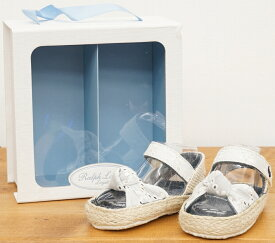 (ラルフローレン) Ralph Lauren リボン サンダル ホワイト ベビー Baby Sandals White 【あす楽】