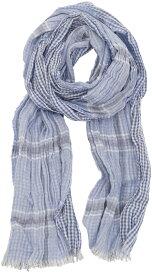 RUGBY / ラルフローレン ラグビー リバーシブル コットン チェック スカーフ イタリア製 ブルー 【あす楽】