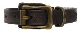 (ラルフローレン) Ralph Lauren バックル レザー ブレスレット エンブレム 型押し ダークブラウン Crest Leather Wrist Strap 【あす楽】