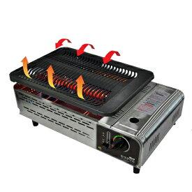 *セラロースター* ECGH-200J 高級焼肉ロースター 極少煙 遠赤外線+輻射熱のダブル効果 焼肉ガスコンロ カセットボンベタイプ 炭火効果 焼肉 煙が少ない 焼き上がりふんわり BBQ バーベキュー 携帯 焦げにくい 旧セラグリル〈送料・代引無料〉