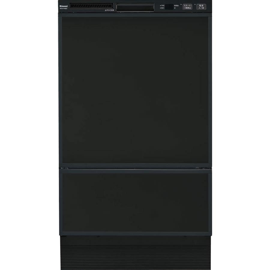 【特定保守製品】リンナイ ビルトイン食洗機 フロントオープン RSW-F402C-B [80-7480] ブラック