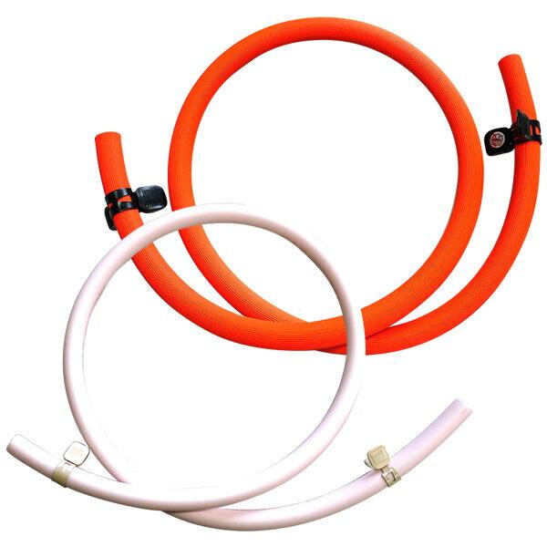 ガス器具用ゴムホース1m+バンド [ガスコンロ/ガス炊飯器/ガスオーブン等の接続に][コンロA_op] ガスホース