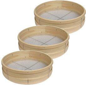 舗装用作業用具 木製曲げ輪ふるい 径36cm×高さ9cm 3個セット