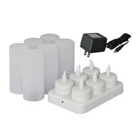 充電式LEDキャンドル ゆらぎ YLC-6P 6個セット 日動工業 [送料無料]