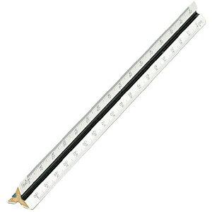 三角スケール(一般向) 30cm 竹芯セル張 副尺なし No.16-301