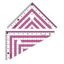 カラー三角定規 ピンク - メール便対象