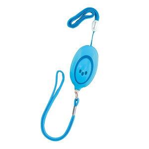 ミニ非常用ブザー 防犯ブザー ブルー 85dB ロングストラップ 小学生 子供 男の子 女の子 デビカ