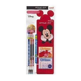 ディズニーシリーズ スタイルフィット リフィル3本セット ミッキー型赤シート付き 学生 限定 - メール便対象