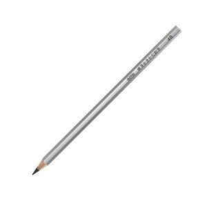 小学校で使われる 硬筆かきかた鉛筆 4B 削り済み 1ダース 12本入 シルバー/銀軸 かきかたえんぴつ - メール便対象
