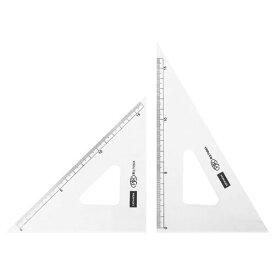 【メール便対象】内田洋行 三角定規 18cmX2mm 目盛り付き 1-809-1802