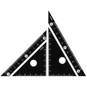 見やすい白黒 三角定規 10cm ブラック APJ251B - メール便対象