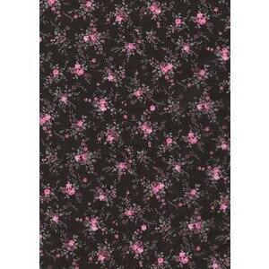 【メール便対象】【デコパッチ】デコパッチペーパー 小花柄/ピンクxブラック dp-fd565