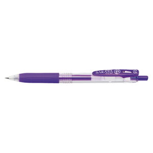 ゼブラサラサクリップジェルインクボールペン0.5紫JJ15-PU