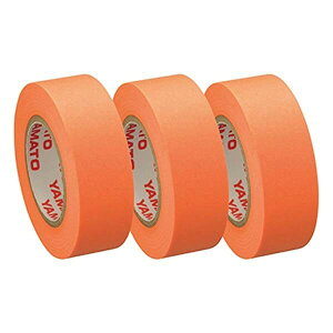 テープノフセン 詰替用テープ 3巻 オレンジ ロール付箋 携帯 - メール便不可