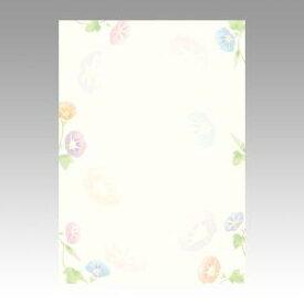 【メール便対象】ササガワ 和柄用紙 和ごころ 朝顔 4-1015