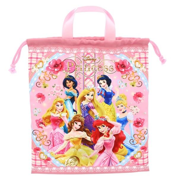 【メール便対象】ディズニー プリンセス 巾着 袋 L