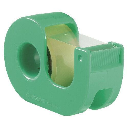 【メール便対象】ニチバン セロテープ小巻カッター付 グリーン CT-18DRG
