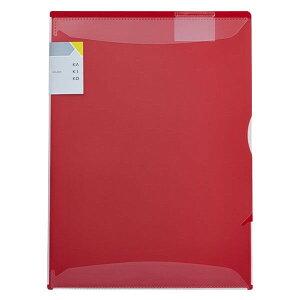 キングジム カキコホルダー A4 縦 赤 バインダー 書類 打合せ 実習 就職活動 - メール便対象