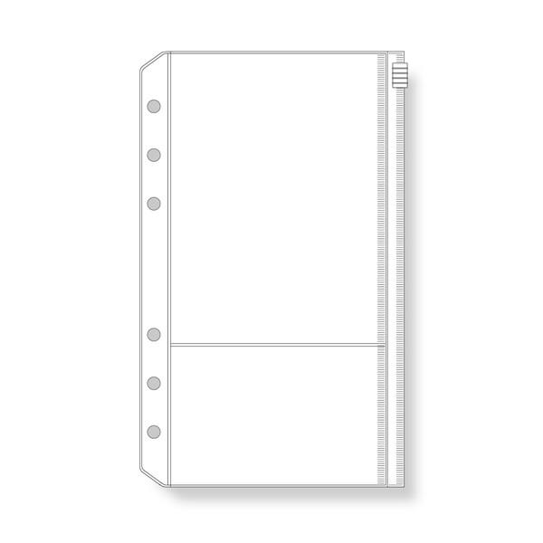 【メール便対象】ダ・ヴィンチ システム手帳 リフィル バイブルサイズ ファスナーポケット (引き手付) DR313