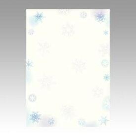 【メール便対象】ササガワ 和柄用紙 和ごころ 雪の結晶 4-1011