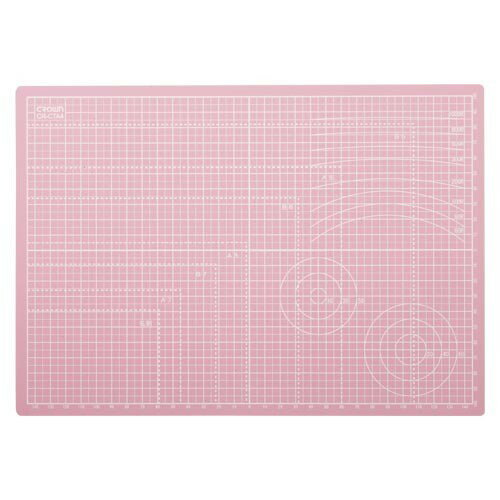 【メール便対象】クラウン きるべーす カッターマット A4 ピンク CR-CTA4N-P