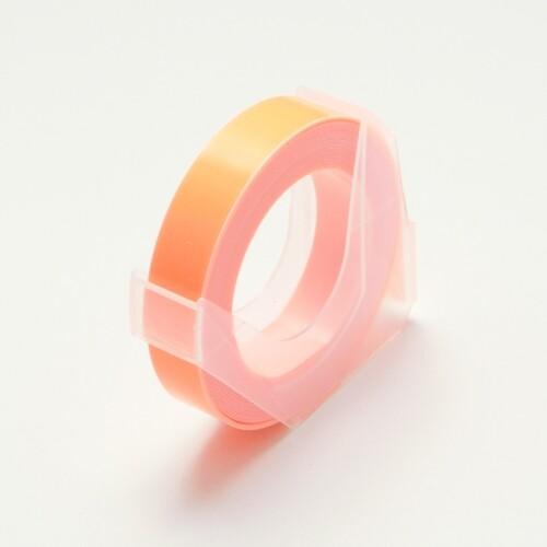 【メール便対象】【DYMO/ダイモ テープ】マシューズ グロッシーテープ つやあり 蛍光オレンジ 9mm×3m RM900-KOR