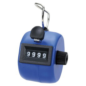 岡本製図器械 数取器手持型プラスチック製 ブルー 75090【メール便不可】