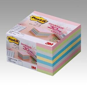 ポストイット ノート再生紙 カラーキューブ CPRP-P-33SE 住友スリーエム 3M【付箋 ふせん】 - メール便不可
