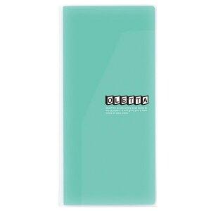 キングジムオレッタA4三つ折りホルダー中身が見える透明タイプ緑796Tミト