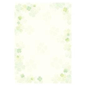 【メール便対象】ササガワ 和柄用紙 和ごころ 四つ葉 4-1026