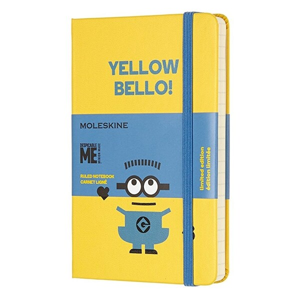 【メール便 送料無料】モレスキン 限定版 ミニオンズ 横罫 ポケットサイズ ハードカバー ジェリー YELLOW BELLO!