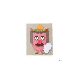 【メール便対象】ハイタイド スティッキーメモ (ファニーフェイス) メキシカン CN141-D