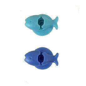 マーナ おさかな歯ブラシホルダー ブルー W584B - メール便対象